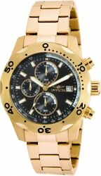 Menand039s Specialty 17751 Gold Stainless Steel Chronograph Watch