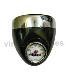 Luna Moped Classic Headlight Assey 5 1/2 With Bulb Holder And Speedometer 60km/h