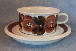 Arabia Of Finland Vintage Rosmarin Tea Cup And Saucer Excellent
