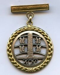 Finland Bank Kop Medal Gold 750 And Silver 925 Long Service Banker 25 Years Rare