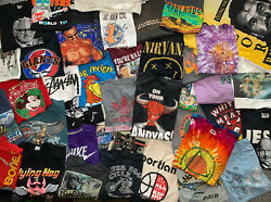 5 T-shirt Lot Pick A Size Vtg Nike Sports Tie Dye Bands Movies Graphics