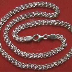 Old Real Solid Sterling Silver 925 Sample Men's Necklace Chain 18.9 Stamped