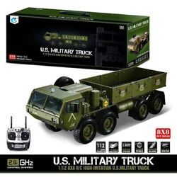 Hg P801 1/12 88 Chassiis M983 Rc Us Army Military Truck Car Sound Light System