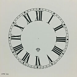 New Old Stock Ansonia 5 Clock Dial With Roman Numerals For Parts