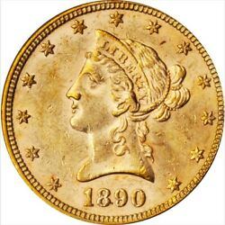 1890 10 Dollar Gold Eagle. Pcgs Ms61. Cac. Way Under Graded.