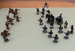 25mm Metal Civil War Union And Confederate Figurines