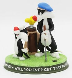 Wb Looney Tunes Sylvester The Cat Golf Figurine Oh, Father Will You Ever. 1999