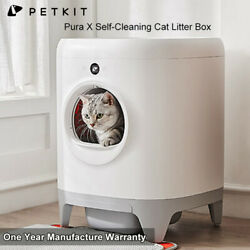 Petkit Pura X Self-cleaning Cat Litter Box Xsecure/odor Removal/app Automatic