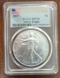 Value Buy 2017 American Silver Eagle Pcgs Ms 70 First Strike