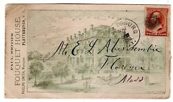 210 On Fouquet House All-over Advertising Plattsburgh Ny 1886 To Florence Ma