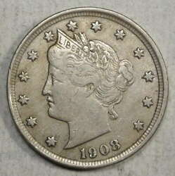 1908 Liberty Nickel Extremely Fine   0524-04