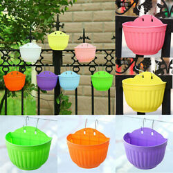 Resin Plastic Balcony Hanging Orchid Pots Color Hanging Wall Hanging Flower Pots