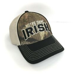 Mens Mossy Oak Camo Notre Dame Hat Curved Bill Snapback Structured Camouflage