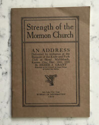 Antique Strength Of The Mormon Church Address Booklet 1921 By Heber Grant