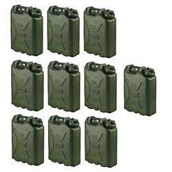 Scepter Portable Water Storage Container 5 Gal Green Ldpe Hdpe Bpa Free 10 Pack