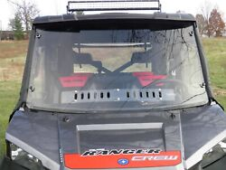 Polaris Ranger Crew Full Size W/ Pro-fit Cage - 2 Piece Lexan Windshield And Vents