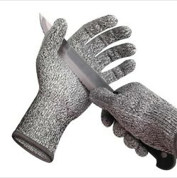 1/2 Pairs Anti-cut Gloves Safety Cut Proof Stab Resistant Kitchen Butcher Gloves