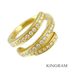 Queen 18k Yellow Gold 750 Diamond 12 52 Ring From Japan