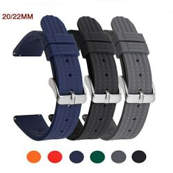 Watch Strap Menand039s Diving Waffle Silicone For Seiko Samsung Huawei Band 20/22mm