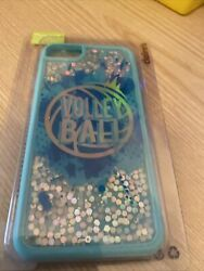 Claireandrsquos Iphone 678. Volleyball Theme Case. Blue Glitter. New