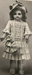 17antique French Doll1880's Dress Underwear Shoes Knit Stockings Hat Pattern