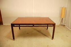 Michael Taylor For Baker Far East Collection Walnut Extension Dining Table