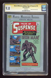 Marvel Milestone Edition Tales Of Suspense 39first Cgc 9.8 Ss Stan Lee