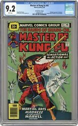 Master Of Kung Fu 30 Cent Variant 41 Cgc 9.2 1976 2068832019