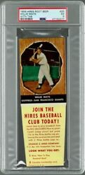 1958 Hires Root Beer With Tab Willie Mays 25 Psa 5