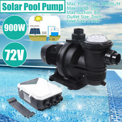 900w Solar Water Pump +mppt Controller For Fountain Swimming Pool Pumping Clean