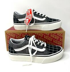 Old Skool Platform Woven Check Black Womenandrsquos Sneakers Vn0a3b3u1aw
