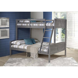 Donco Kids Louver Bunk Bed Antique Grey Twin/twin W/twin Trundle Bed