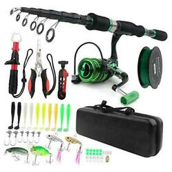 Fishing Rod And Reel Combos Carbon Fiber Telescopic Fishing Pole Kit With