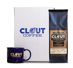 Clout Coffee Crate Bourbon Barrel Aged Coffee Gift Box 12 Ounce Light Roast 13