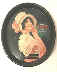Coca Cola Betty Girl Vintage Oval Serving Tray