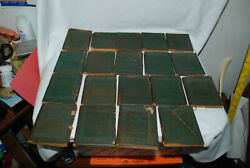 Antique Little Leather Library Lot Of 19 Books