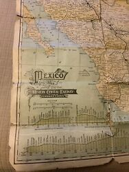 1906 Mexico Map Of The Mexican Central Railway And Connections Very Rare