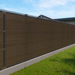 11ft Brown Fence Privacy Screen Commercial 95 Blockage Mesh Fabric W/gromment