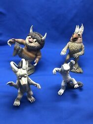 Mcfarland Toys Where The Wild Things Are 4 Figures Lot 2000 Maurice Sendak