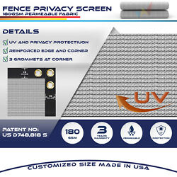 15ft Gray Fence Privacy Screen Commercial 95 Blockage Mesh Fabric W/gromment