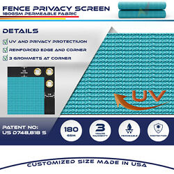 15ft Blue Fence Privacy Screen Commercial 95 Blockage Mesh Fabric W/gromment