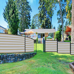 1ft Beige White Fence Privacy Screen Commercial 95 Blockage Mesh W/gromment