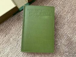 President Woodrow Wilson Signed Autographed Slipcased Book State Papers