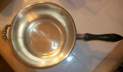 Estate Find -silverplated Serving Bowl With Wooden Handle And 2nd Ornate Handle
