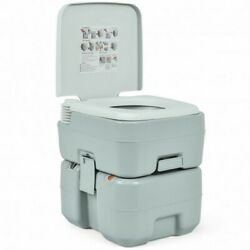 5.3 Gallon 20l Outdoor Portable Toilet With Level Indicator For Rv Travel Campi