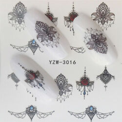 Nail Art Water Decals Stickers Transfer Flowers Butterfly Fruit Lace Buy 3 Get 3