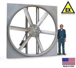 Panel Axial Exhaust Fan - Explosion Proof - 24 - 115/230v - 1/2 Hp - 6031 Cfm