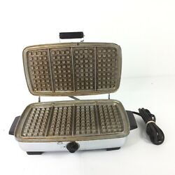 General Electric Waffle Maker Iron 179g40 Vintage -- Parts Only-- Not Working