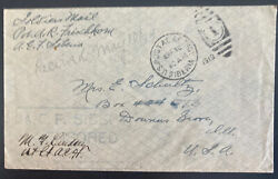 1919 Us Army Post Office In Siberia Aef Censored Cover To Illinois Usa Frischkor