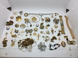 Scrap Lot Or Not Large Lot Of Gold Filled Assorted Jewelry - 332.4g